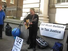 U2 Protest at Glasto