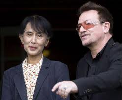 Bono and Suu Kyi