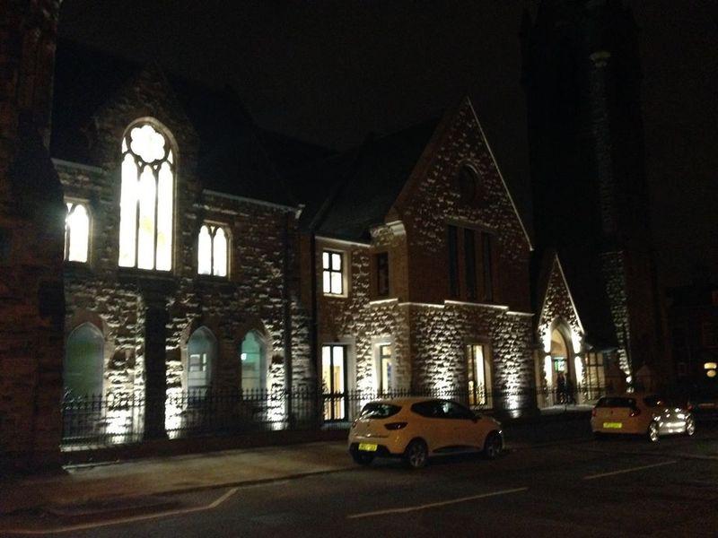 New halls at night