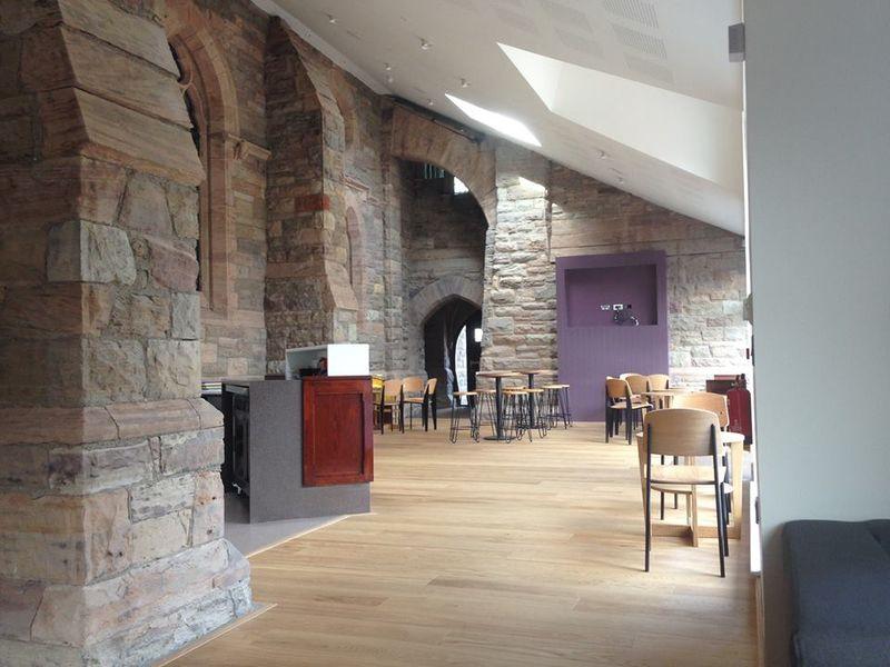 New halls cafe