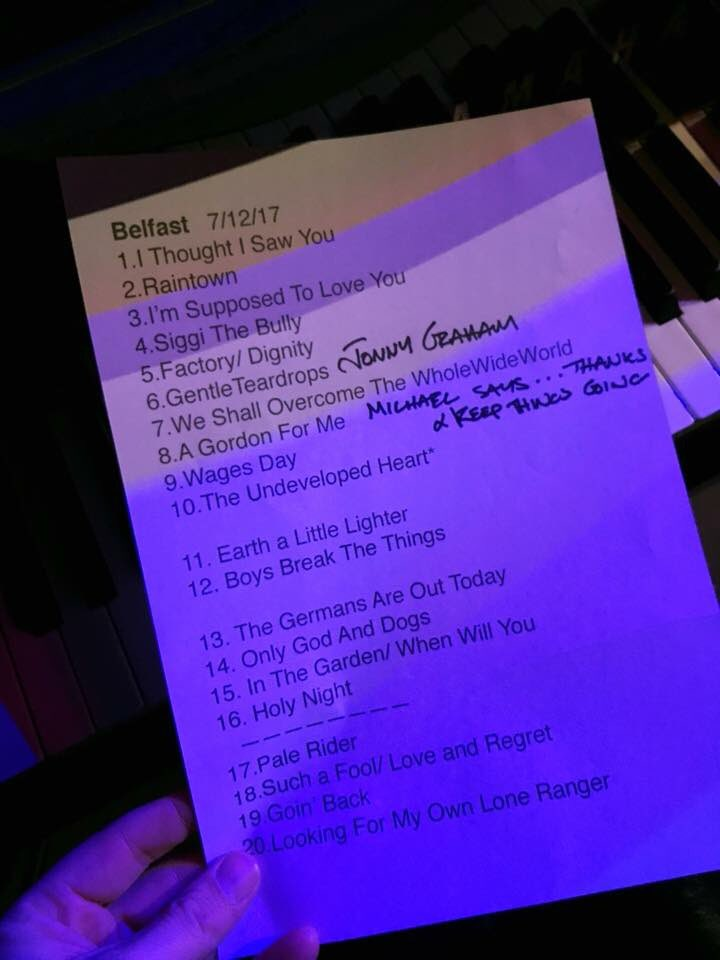 Ricky Set list Belfast