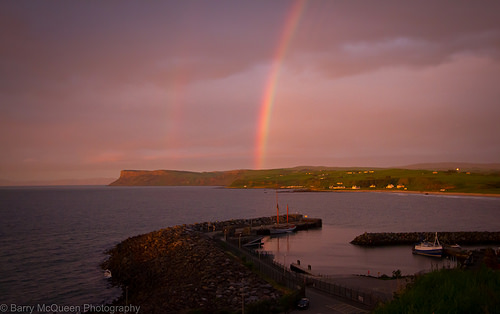 Rainbow over ballycastle