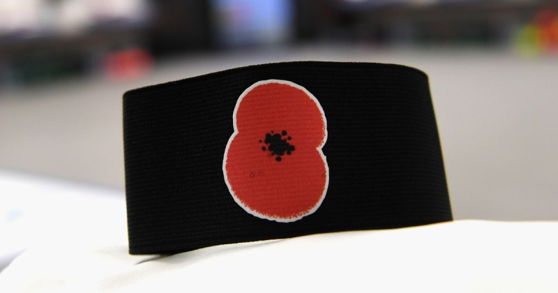 An-armband-showing-a-poppy