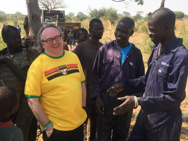 Stocki Uganda tee with Drillers