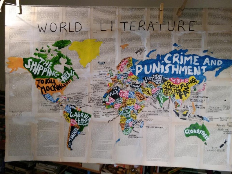 World map lit