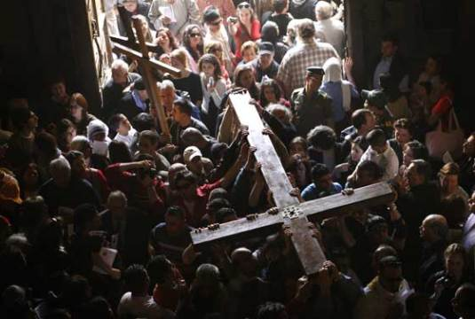 Cross in crowds