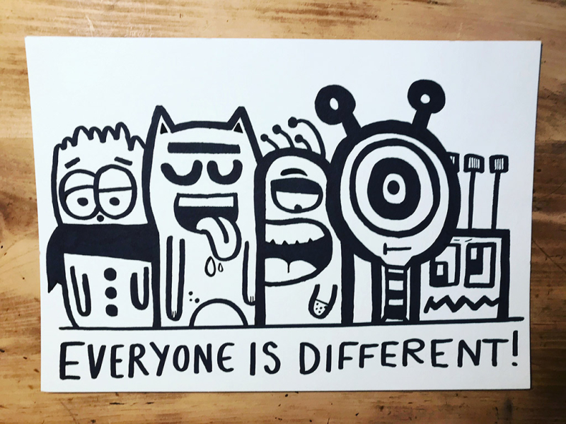 Everyone-is-different-doodle